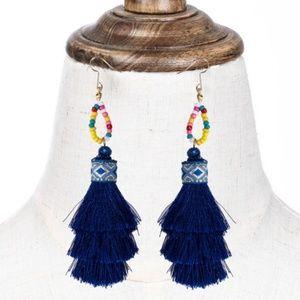 ❇️2 for 32$❇️ Blue Bohemian Tassel Earrings